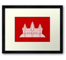 Angkor Wat / Khmer / Cambodian Flag Framed Print