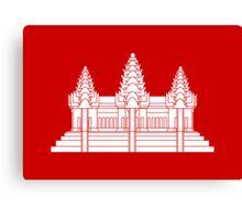 Angkor Wat / Khmer / Cambodian Flag Canvas Print