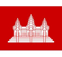 Angkor Wat / Khmer / Cambodian Flag Photographic Print