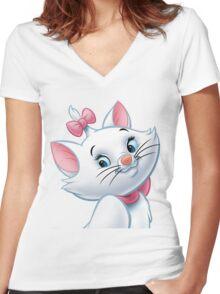 Marie headshot! Women's Fitted V-Neck T-Shirt