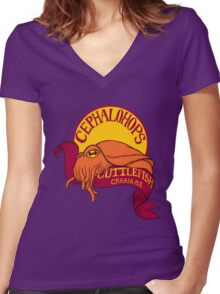 Cuttlefish Cream Ale Women's Fitted V-Neck T-Shirt