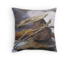 Sticks and Stones #5 Throw Pillow