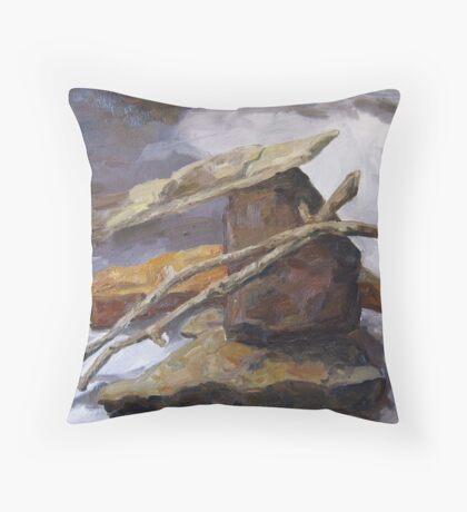 Sticks and Stones #5 Throw Pillow