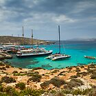 The Blue Lagoon, Comino, Malta by Gabor Pozsgai