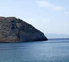 View of a Mountain from Water Inlet on Island of Crete in Greece by JaguarJulie