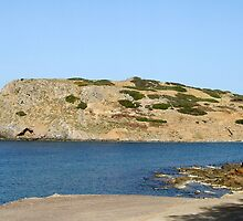 View of a Mountain from Water Inlet on Island of Crete in Greece 3 by JaguarJulie