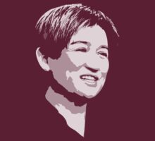 Penny Wong - white pixels for dark background by portispolitics