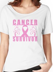Cancer Survivor (Floral) Women's Relaxed Fit T-Shirt