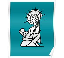 Virgin Mary Illustration Poster