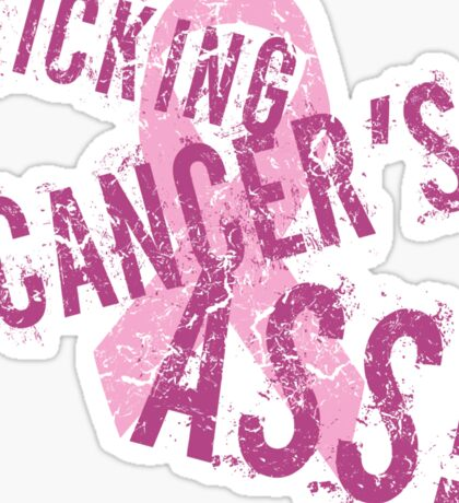 Kicking Cancer's Ass Sticker