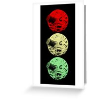 Trip to the Moon Colour Greeting Card