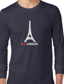 I Heart London Eiffel Tower - Joke T-Shirt  Long Sleeve T-Shirt