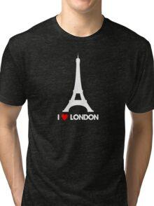 I Heart London Eiffel Tower - Joke T-Shirt  Tri-blend T-Shirt