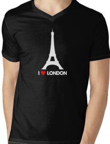 I Heart London Eiffel Tower - Joke T-Shirt  Mens V-Neck T-Shirt