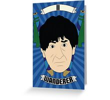 Doctor Who Portraits - Second Doctor - Wanderer Greeting Card