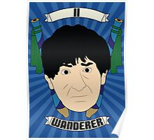 Doctor Who Portraits - Second Doctor - Wanderer Poster