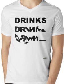 DRINKS DRINKS DRINKS Mens V-Neck T-Shirt