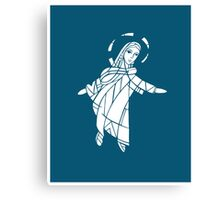 Virgin Mary Illustration Canvas Print