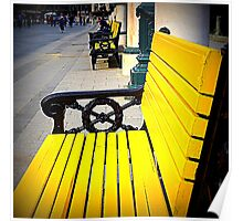 Yellow Bench Poster