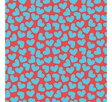 Cute hearts seamless red pattern Photographic Print