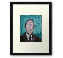 HP Lovecraft second portrait Framed Print