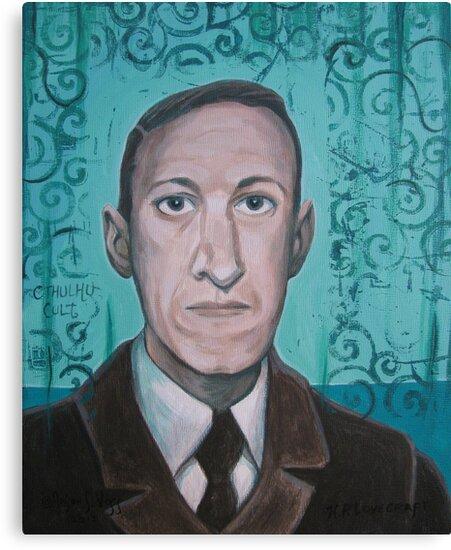 HP Lovecraft second portrait by aglastudio