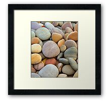 SCOTTISH PEBBLES Framed Print