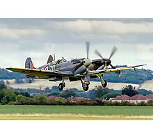Two Spitfires taking off at Duxford Photographic Print