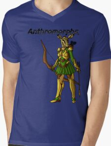 Anthromorphs Doe Mens V-Neck T-Shirt