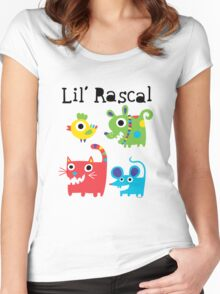 Lil' Rascal Critters Women's Fitted Scoop T-Shirt