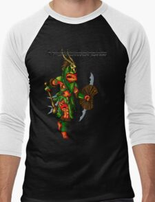Anthromorphs frog warrior Men's Baseball ¾ T-Shirt