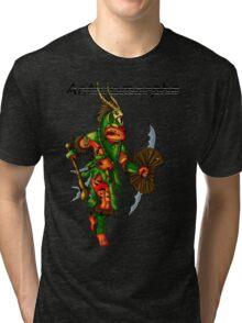 Anthromorphs frog warrior Tri-blend T-Shirt