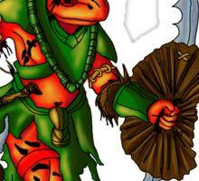 Anthromorphs frog warrior Sticker