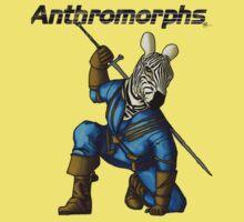 Anthromorphs Zebra Kids Tee