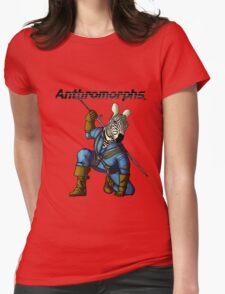 Anthromorphs Zebra Womens Fitted T-Shirt