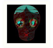 Mask of the Silenced Ritualistic  Art Print