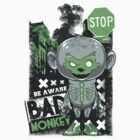 Bad Monkey Green And Grey by Jason Moncrise