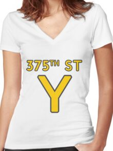 375th Street Y - Royal Tenenbaums Tshirt Women's Fitted V-Neck T-Shirt
