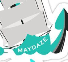 maydaze shark circle Sticker