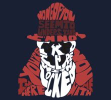 Rorschach typography Kids Clothes