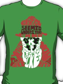 Rorschach typography T-Shirt
