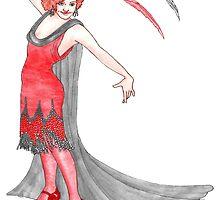 Scarlet Flapper  by redqueenself