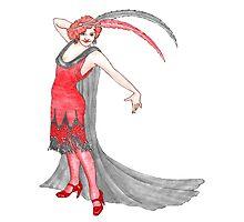 Scarlet Flapper  Photographic Print
