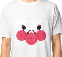 Cute Asian Girls Character with cups of tea Classic T-Shirt