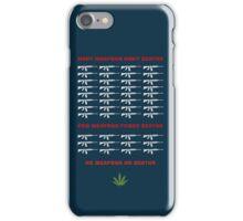 no weapon no death  (dark bg) iPhone Case/Skin