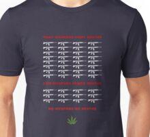 no weapon no death  (dark bg) Unisex T-Shirt