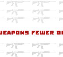 no weapon no death  (dark bg) Sticker