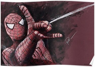 Spider-Man shooting web by chickenhead