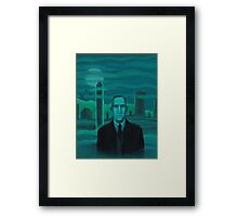 HP Lovecraft the explorer Framed Print