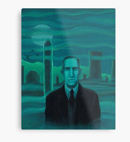 HP Lovecraft the explorer Metal Print